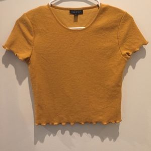 Mustard Yellow Cropped Tee